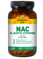 NAC (N-Acetyl Cysteine) 750mg Country Life 60 Caps