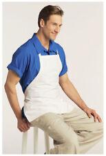 "Bib Apron, 3 Pockets, Adjustable Neck, Color: White, Size: 28""W x 24""L - 3011"