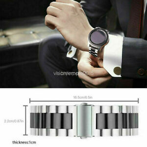 Replacement Watchband 46mm Rose-Gold Stainless Strap Bracelet for Samsung Galaxy