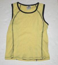 womens medium Ellemenno sleeveless shirt tank top yellow