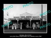 OLD 8x6 HISTORIC PHOTO OF SANDGATE QLD THE HOLDEN MOTORS GARAGE c1960