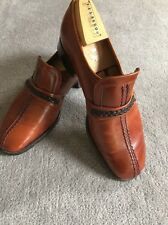 Mens Vintage BARKER Slip-on Loafer Tan Shoes UK 7E.