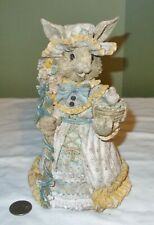 Bunny Rabbit in Victorian Dress Detailed Resin Figurine Easter +