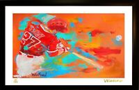 SALE MIKE TROUT L.E. 19/199 PREMIUM ART PRINT SIGNED BY ARTIST TO STARS, WINFORD