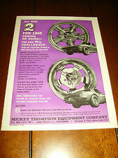 1965 MICKEY THOMPSON MAG WHEELS   ***ORIGINAL AD***