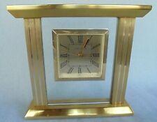 LONDON CLOCK COMPANY CLOCK - VERY STYLISH SHAPE - BRASS AND GLASS