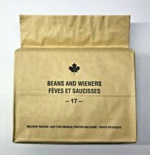 Canada Army Ration. Meals ready to eat (MRE) Menu 17 (Beans and Wieners) Breakfa