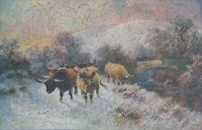 "Vintage 389-piece wooden jigsaw puzzle ""Winter Pasture"""