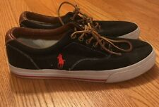 POLO by RALPH LAUREN Canvas & Leather Athletic Sneaker Vaughn Shoes Mens Sz 10 #