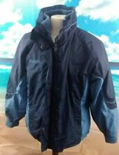 """Colombia Fleece Lined Bugaboo Ski Jacket. Blue 24"""" pit-to-pit, 26"""" length, Large"""