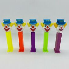 Lot Of 5 Neon Stem Peter Pez Loose Clown Candy Dispenser