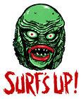SURF'S UP! • Creature Black Lagoon • Iron-On Transfer • Retro MANI-YACK Design!