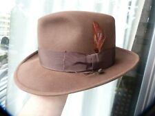 stetson 3x beaver mode edge mid 1950 s  brown size 7 to 7 1/8