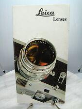 Vintage LEICA LENSES CAMERA Dealer SALES BROCHURE - Ephemera Catalog - ENGLISH