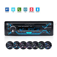 Single DIN Car Stereo Radio Bluetooth Audio MP3 Player In-Dash USB TF AUX 60Wx4