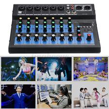 8 Kanal USB Digital Mixer Live Studio Audio Mischpult Konsole Phantomspeisung