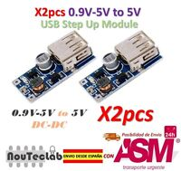 2pcs 0.9V-5V to 5V DC-DC USB Voltage Converter Step Up Power Supply Module