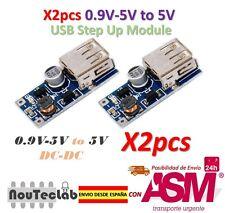 2pcs 0.9V-5V to 5V DC-DC USB Voltage Converter Step Up Power Supply Module