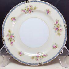 "Noritake Nippon Toki Kaisha Salad Luncheon Plate 7-1/2"" Cream Floral Mid Century"