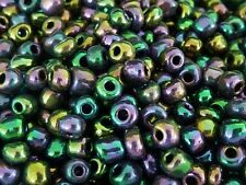 50g Beautiful Purple Iris Glass Seed Beads 6/0