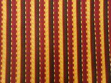 By the Half Yard Mustard Burgundy Brown Stripe Cotton Quilt Apparel Fabric BTHY