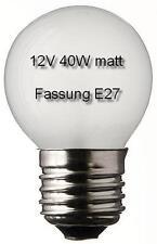3x Glühlampe Glühbirne Leuchte Lampe Ersatz E27 Tropfen 12V 40W matt 497205