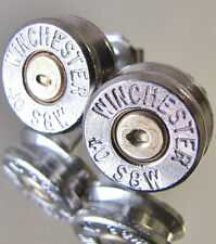 40 S&W WINCHESTER Bullet Earrings Gold Silver Nickel Cufflinks Pendant Available