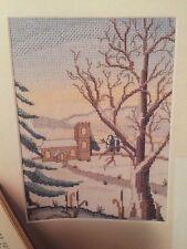 Snowy Winter Village Cross Stitch Chart
