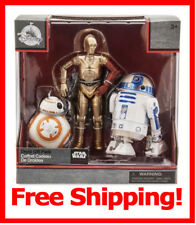 Star Wars Droid Figures R2-D2 C-3PO BB-8 Die Cast Disney Elite Series Collectors