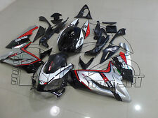 CARENE ABS APRILIA RS 125 07/08/09/10 DESIGN SILVER & BLACK BE RAC NUOVE FAIRING