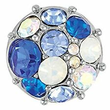 Blue Interchangeable Snap Brand New! Ginger Snaps Petite Vintage Brooch -