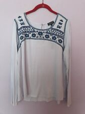 New Papermoon White Embroidered Top Blouse BEAUTIFUL Small S Stitch Fix NWT