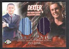 DEXTER SEASON 3 (Breygent) COSTUME CARD #D3 - C23 JOEY QUINN TWO SHIRTS