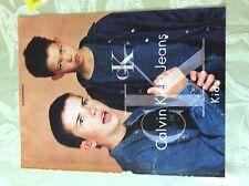 m17a8 ephemera 1990s advert calvin klein jeans for kids