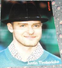 Justin Timberlake Christina Aguilera Estonian Foldout Poster 2006 Mint Condition