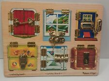 Melissa & Doug Latches puzzle  Occupational Therapy Educational Daycare Kids Toy