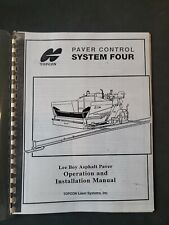 Topcon Dozer Paver Control System Four Lee Boy Operation And Installation Manual