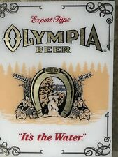 Olympia Beer Mirror Vintage It's the Water No Wood Frame Sign