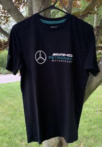 MERCEDES BENZ PETRONAS AMG Tee Official Mens M T-Shirt Motorsports Black