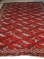 OLD ANTIQUE RUSSIAN TRIBAL JOMUD YAMOUT RUG TURKMENISCHER STAMMES TEPPICH YOMUTH