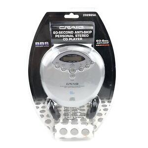 Craig Electronics CD Player CD2865A 60 Second Anti-Skip Personal Headphones NEW