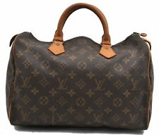 Authentic Louis Vuitton Monogram Speedy 30 Hand Bag M41526 LV A4803
