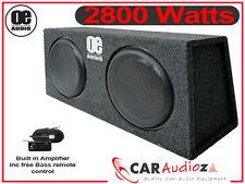 """2800 Watt DOPPIO SUBWOOFER DA 12"""", costruito in amplificatore Attivo Sottile Bassbox poco profonde"""