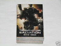 2009 TOPPS THE TERMINATOR SALVATION Movie Complete Trading Card Set #1-72