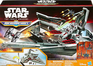 STAR WARS The Force Awakens MICRO-MACHINES 1st Order STAR DESTROYER Playset ~New