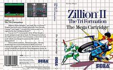 ZILLION II 2 Sega Master System Caja De sustitución Cubierta Estuche De Arte insertar escanear