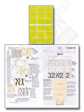 ECHELON FD D356151, 1/35 Decals for IDF Turret Tactical Markings (Set 2) - MASKS