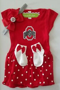 Ohio State infant/baby outfit girl Ohio State baby girl OSU toddler dress