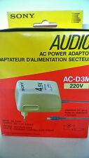 Sony AC-D3M Alimentatore corrente da 4,5v 400mA per lettori cd portatili