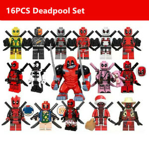 16X Deadpool Minifigure - Marvel Super Heroes Figure For Custom Lego Minifigure